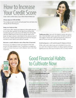 Benefits of Great Credit - How to Increase Your Credit Score